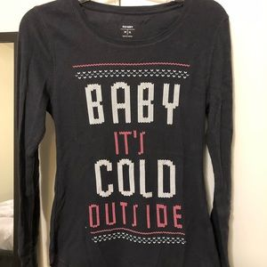 Baby it's cold outside Old Navy Long Sleeve Tee